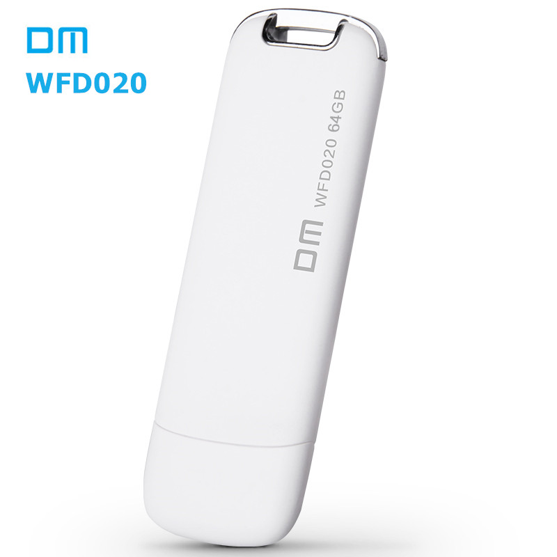 DM WFD020 Wireless USB Flash Drives 64GB WIFI For iPhone / Android / PC Smart Pen Drives Memory Usb Stick Multiplayer With Share(China (Mainland))