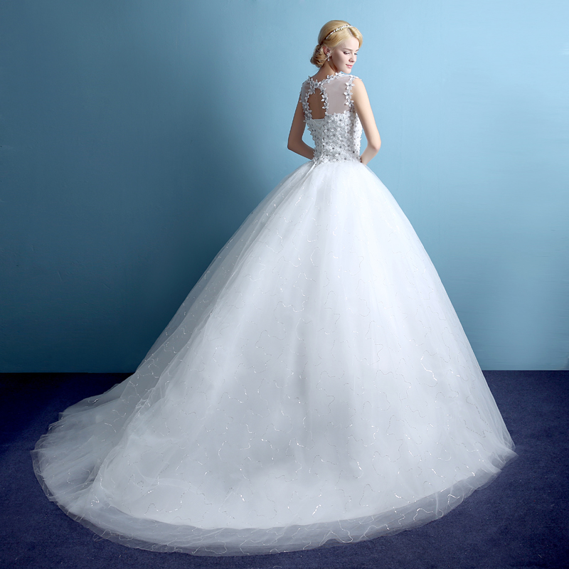 Wedding Dresses  Made In : Noiva wedding dress made in china long trail ball gowns