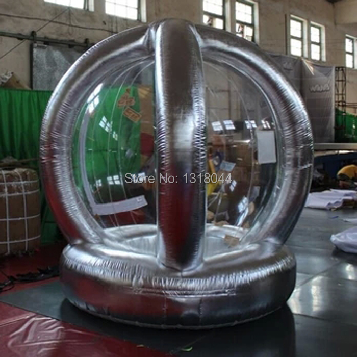 Advertising promotional 2.2m high round silver inflatable money booth/inflatable coin machine/inflatable money machine(China (Mainland))