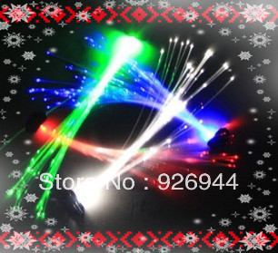 Party essential !! flash hair bands flashing fiber optic hairpin led glow stick  wholesale FOR birthday party