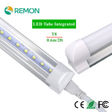 LED Bulbs Tubes T8 600mm 10W 2 Feet Led Integrated Tube Light 2FT AC85-265V G13 SMD2835 Led lights Super Bright 1000lm(China (Mainland))