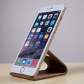 Simple Universal Black Walnut Wooden Mobile Phone Stand Holder for iPhone 6 Plus Samsung Galaxy S5 S6 Note3 4 LG HTC