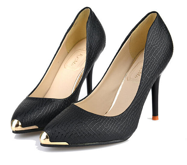 New Arrival Fashion Women's Shoes Pointed Toe Pumps Formal Black White Thin Heels Leather Shoes Lady Comfortable High Heels 2A(China (Mainland))