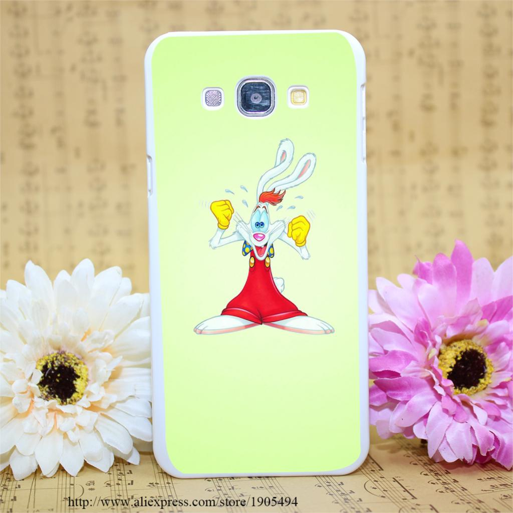 2057POQ krolik rodger White Hard Case Cover for Smasung Galaxy A3 A5 A7 A8 Note 2 3 4 5(China (Mainland))