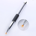 1 Pc Nail Brush Black Rhinestone Handle Manicure Shade Gardient Fan Brush Pen 6Mm New Fashion