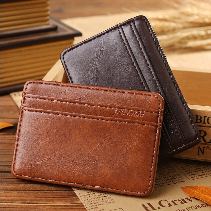 !New Vintage Male Money Clips Mini Short Leather Men C3399 - Fiona's Wallet and Bag Store store