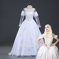 Ainiel Alice in Wonderland The Queen White Cosplay Costume Halloween Party Dress for adult women CS351325