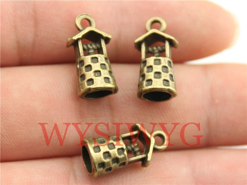 WYSIWYG 9pcs 17*9*8mm antique bronze plated 3D Vintage Well charms(China (Mainland))