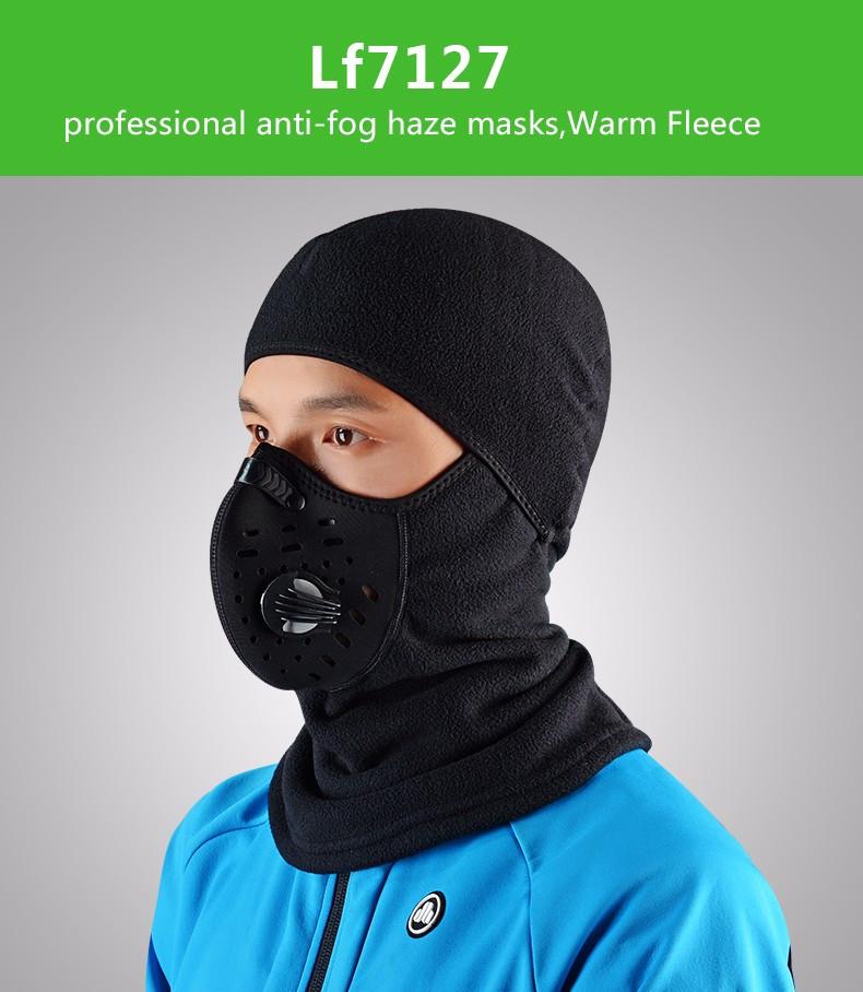 ROCKBROS Winter Thermal Bike Headwear Neck Lycra Fleece Bike Scarfs Ski Headgear Hat Windproof Warm Face Masks Bicycle Equipment