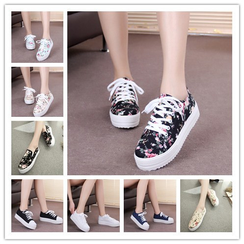 New 2015 vintage creepers platform shoes flower woman sapatos femininos casual zapato mujer womens flats alpargata espadrilles(China (Mainland))