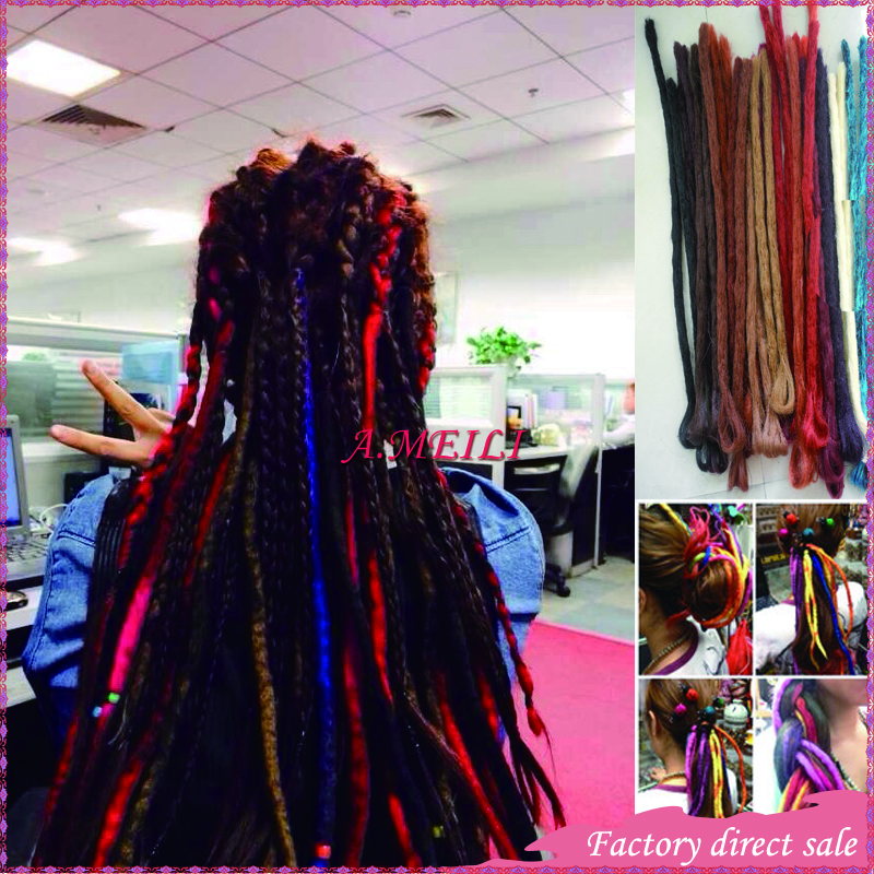 50cm 19colors  Colored dreadlocks hippies Specials weave personalized hand-woven quality<br><br>Aliexpress