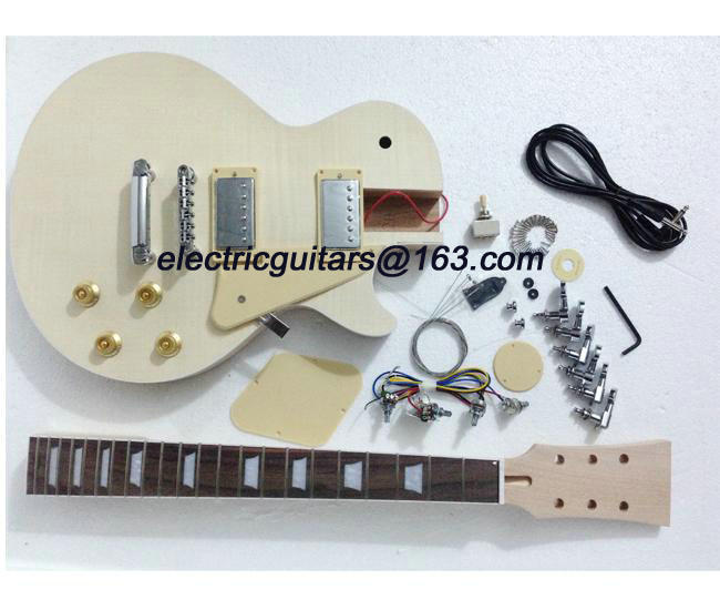 Free shipping lp electric guitar kit/unfinish guitar/Diy electric guitar(China (Mainland))