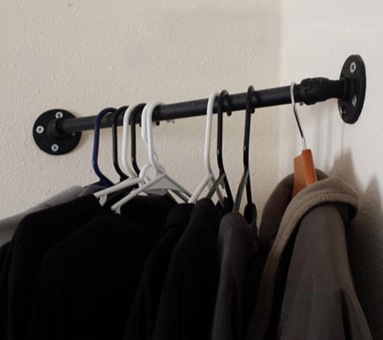 AMERICAN INDUSTRIAL LOFT-STYLE COAT HAT RACK HOOKS IRON CLOTHES RACK HOOKS SHELF SHELF WALL MOUNT WALL VINTAGE WATER PIPES-Z5(China (Mainland))