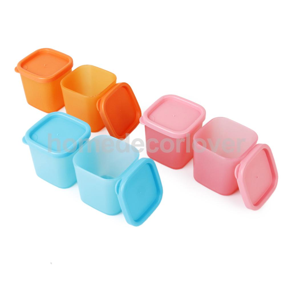 6pc Spice Container Seasoning Storage Organizer Condiment Box BBQ Picnic Camping(China (Mainland))