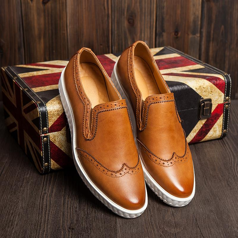 Fashion Casual Shoes Men Loafers Genuine Leather Oxfords Shoes For Men Formal Shoes Flats Men Leather Loafers Sapato Masculino
