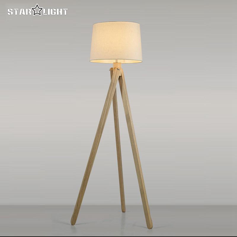 Houten vloerlamp industriële verlichtingsarmaturen voor woondecoratie ...