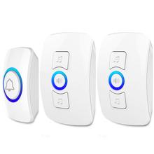KERUI 2 X Main Doorbell 1 X Button Wireless Doorbell Smart Receiver Wireless 100M Remote Control Home Gate Security Doorbell