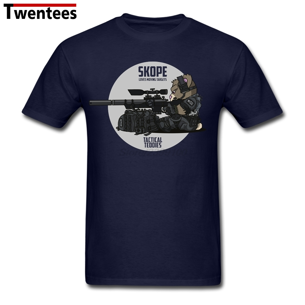 XXXL Tactical Teddies Sniper Night Men Man's Tees Shirt Personality Custom Short Sleeve Valentine's Party Tshirts(China (Mainland))