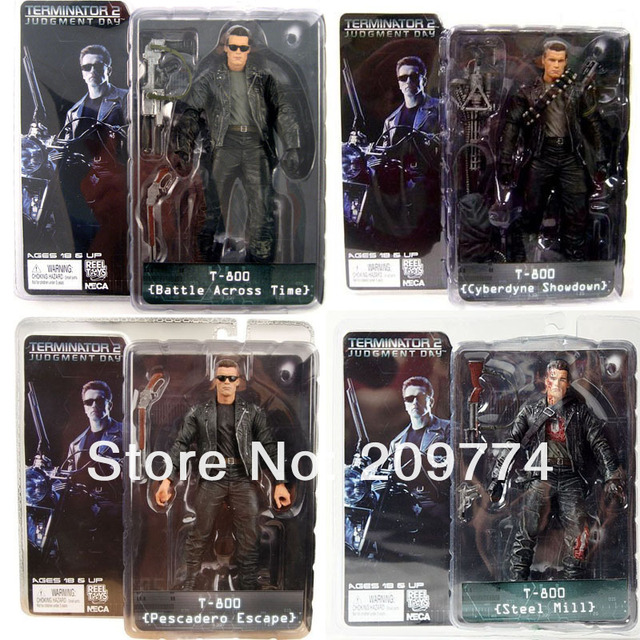 "4PCS NECA TERMINATOR 2 T2 T-800 JUDGEMENT DAY SERIES ONE SET  7"" ACTION FIGURE"