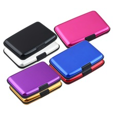 1Pc High Quality Business ID Credit Card Holder Wallet Pocket Case Aluminum Metal Shiny Side Anti