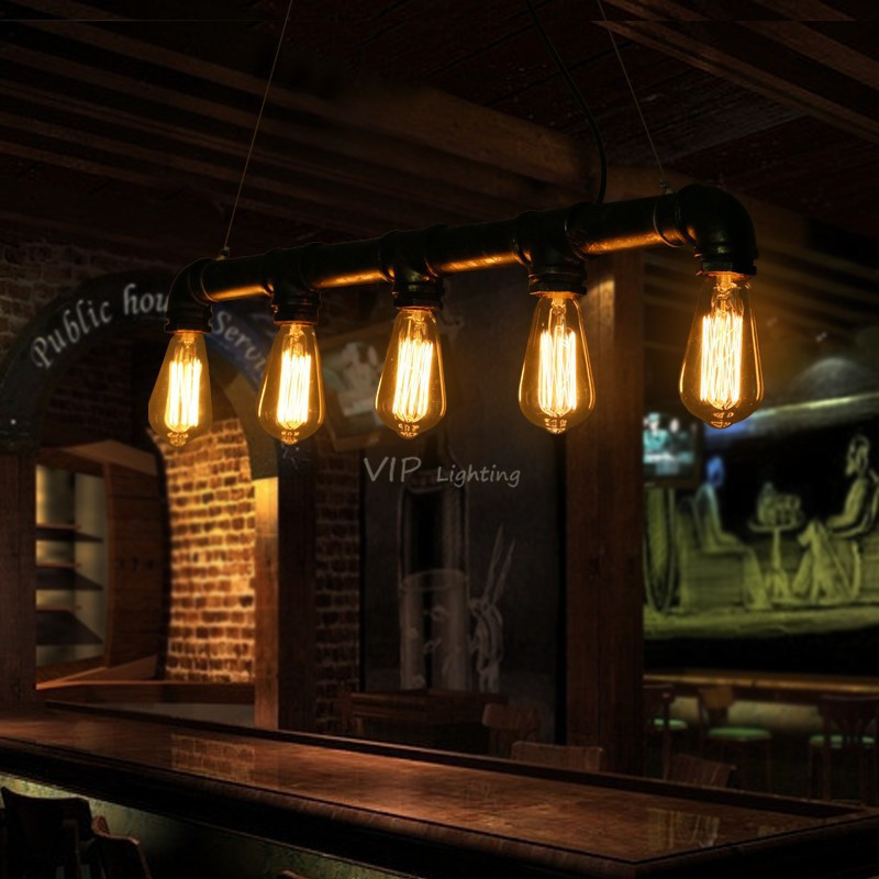 Kitchen Lighting Edison: Edison Pipe Lamp Loft Style Light Antique Kitchen