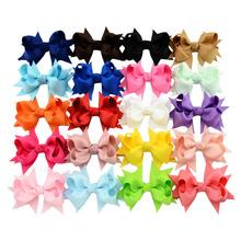 3 Inch Newborn Girls Mini Hair Bows With Alligator Clips Grosgrain Ribbon Hair Clip Hairpins(China (Mainland))