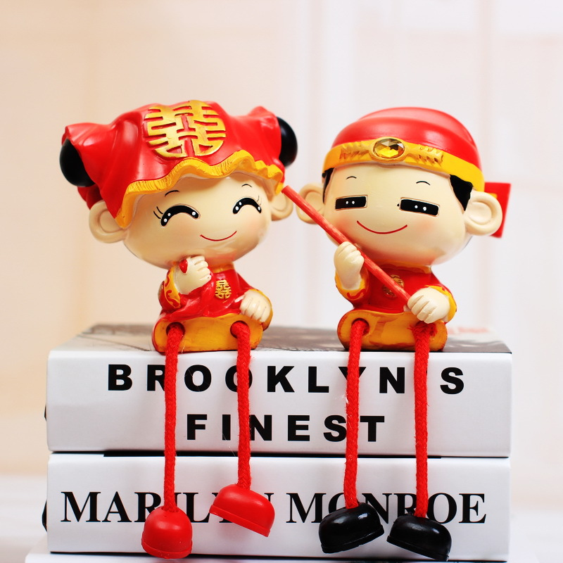 Creative new wedding jewelry crafts ornaments home decorations wedding gift wedding love hanging foot doll lovers(China (Mainland))