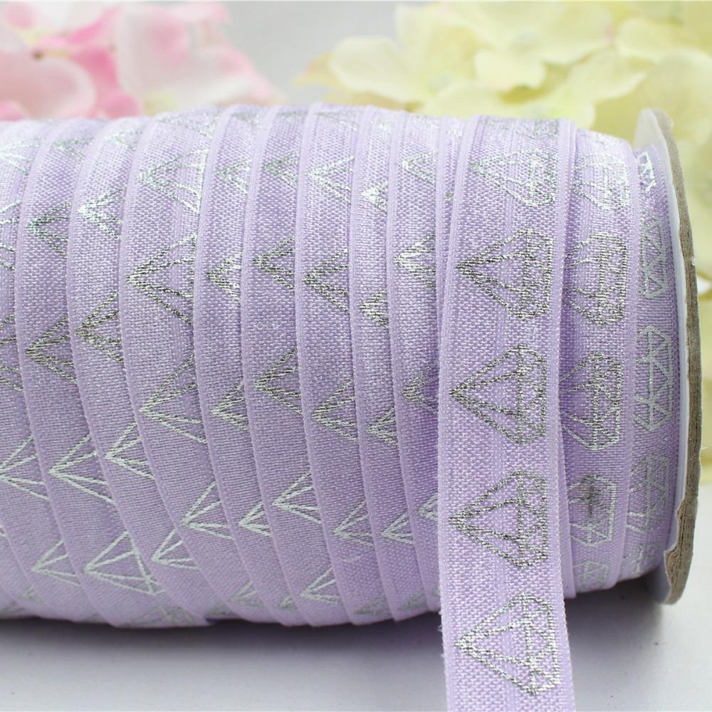 16608-12, 5/8'' 16MM hot Silver print diamond Elasticity ribbon , 5 yards DIY handmade hair accessories Material , free shipping(China (Mainland))