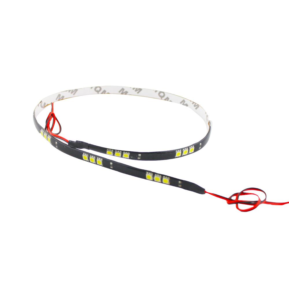 2pieces 60CM/30 5050 LED Car Motors Truck Flexible Strip Light Waterproof,Car Decorative White Strip Lamps,12V(China (Mainland))