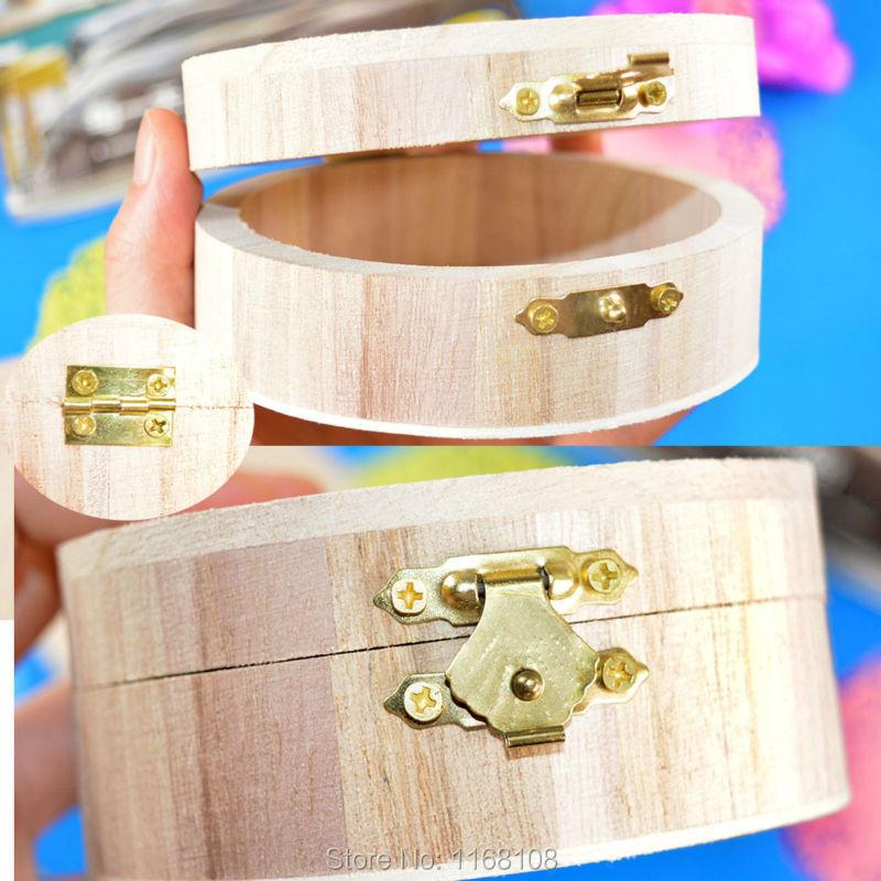 Wooden Crafts Jewelry Box Wood Mud Base Art Decor Children Kid Baby DIY Toys(China (Mainland))