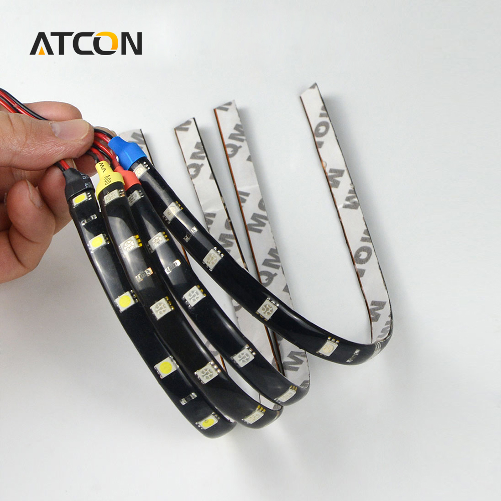 1Pcs Waterproof 30cm High Power LED Strip light 5050 SMD 12 LEDs Flexible Car Auto Daytime Running light DRL Decoration Fog lamp(China (Mainland))