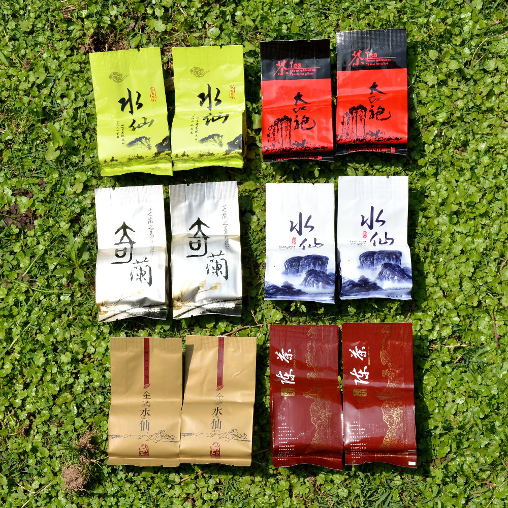 Sample Test Tea 6 kinds of different Grade Wuyi Da Hong Pao Tea Wuyi Rock Tea
