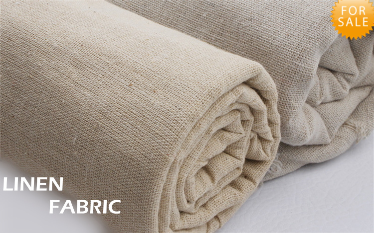 210gsm linen fabric wholesale natural linum usitatissimum use for curtains tablecloths sofa cushion covers 158cm yellow white(China (Mainland))