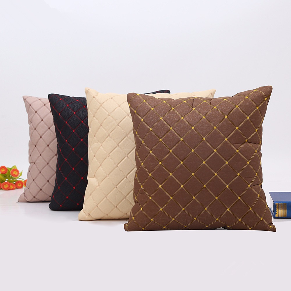 popular leather cushion covers sofa buy cheap leather cushion covers sofa lots from china. Black Bedroom Furniture Sets. Home Design Ideas