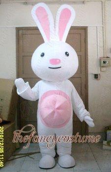 Lovely Pink Rabbit Mascot Costume Easter Bunny Costume ,Advertising