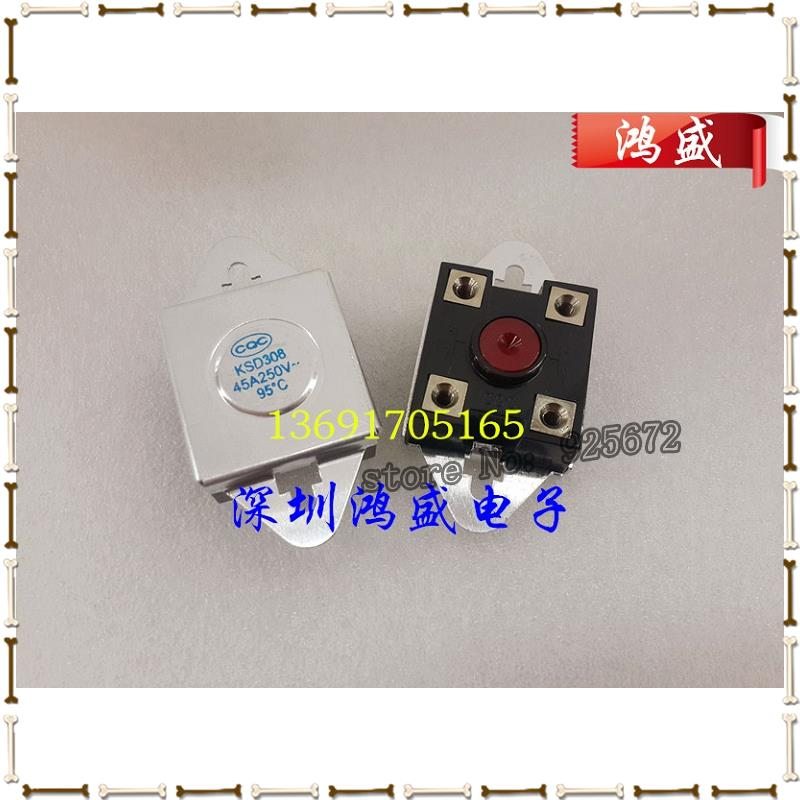 Electric water heater temperature control switch KSD308 insurance 45 a 95C relay overheat protector control Free shipping.(China (Mainland))