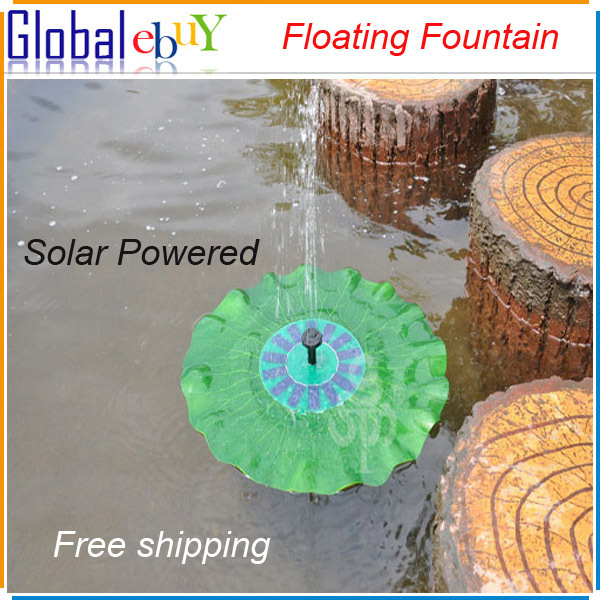 Floating Solar Panel Powered Fountain Pond Water Feature Cascade Garden Pool Kit Wholesale price 1 pcs(China (Mainland))