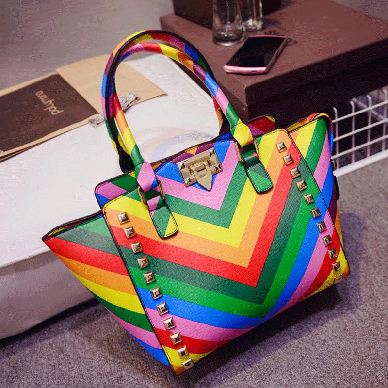 Сумка Women handbags colorful 2015 women tote bag 2017 women tote bag 100