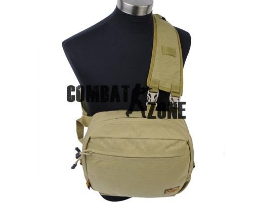 2015 NEW Fashion Style LooYoo A27 1050D Nylon Multi-function Climbing Sports Casual Riding Shoulder&Waist Bag Tan/Black