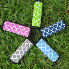 Wholesale Blanks Velcro Luggage Handle Wraps in  Quatrefoil Print with muti colors and free shipping DOM085(China (Mainland))