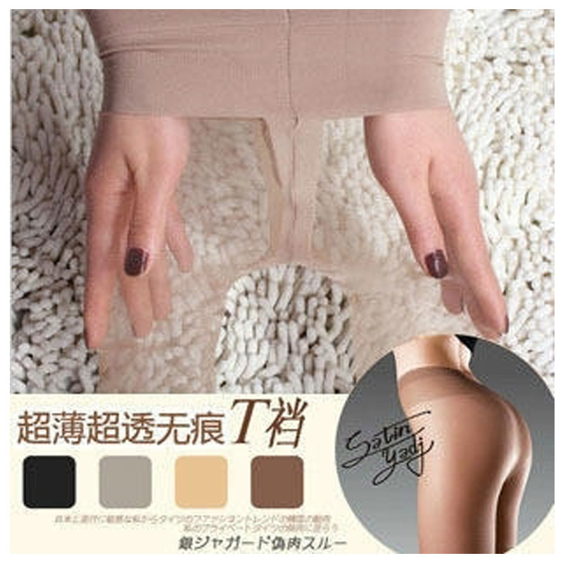 W778 T Crotch Sexy Full Foot Women's Long Stockings thin Semi Sheer Tights Pantyhose Panties free ship 4 colors(China (Mainland))