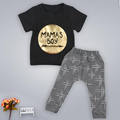 Hot New Baby clothing Infants Cotton Tyrant Gold Letters Printed O Neck Pants Fashion Children s