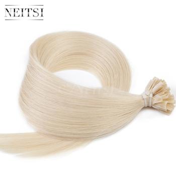 """Neitsi Индийского U кончик Ногтя fusion волос #60 Легкий Blonde16 """"20"""" 24 """"прямо 60 #1 г/локон 50 s 100 s 100% реми человеческого волоса кусок"""