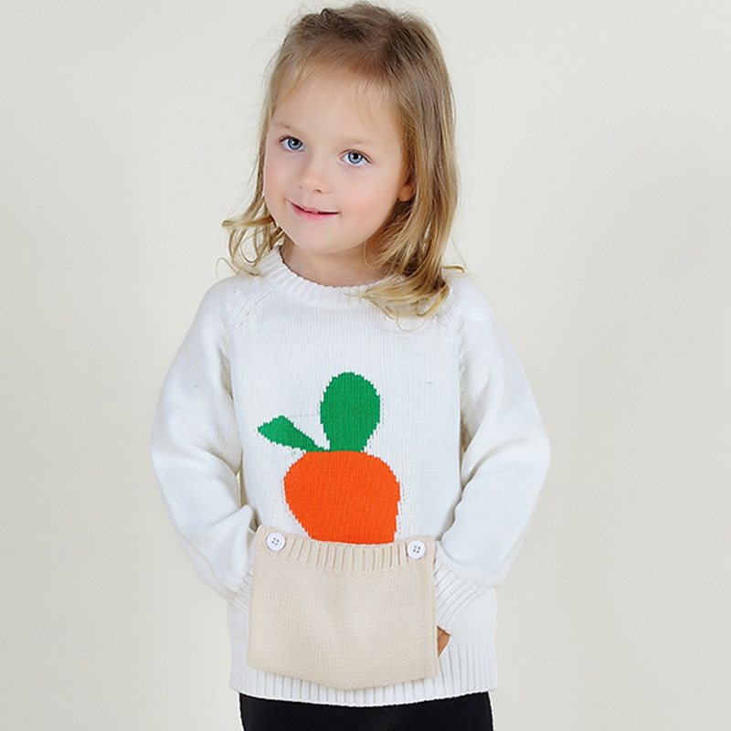 Knitting Kids Sweater : High quality cute carrot baby sweaters cotton knitting