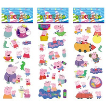 6 sheets/set pink pig stickers for kids Home wall decor on laptop cute animal mini 3D sticker decal fridge skateboard doodle(China (Mainland))