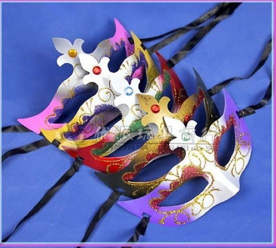 Free shipping NEW 20PCS/LOT Party mask,Halloween Venetian Masquerade Face Mask Dance Party MASK(GZMJ)