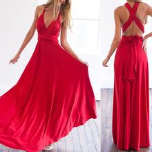2017 Sexy Summer Maxi Women Dress Red Beach Long Bandage Multiway Convertible dresses infinity Wrap Robe Longue Femme Ladies(China (Mainland))