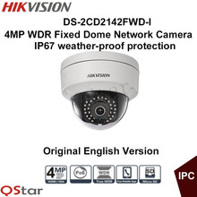 Buy Hikvision Original English Version DS-2CD2142FWD-I 4MP WDR Fixed Dome IP Camera IP67 1K10 POE CCTV Camera Surveillance Camera for $85.52 in AliExpress store