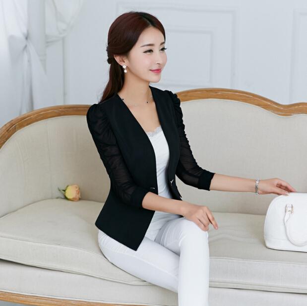 acheter blazer femmes 2015 printemps. Black Bedroom Furniture Sets. Home Design Ideas
