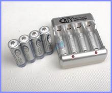 4 шт AA 2500 мАч 1,2 BTY перезаряжаемый аккумулятор NI-MH + 2а 3а зарядное устройство комплект